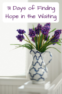 31 day of finding hope in the waiting